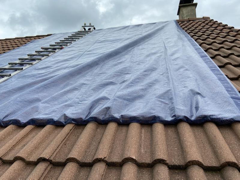 Bâchage suite fuite de toit Noisy-le-Roi 78